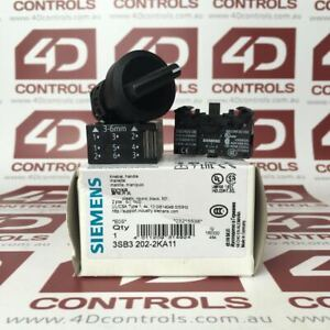 3SB3 202-2KA11 | Siemens | Selector Switch Maintained 2 Position 22mm, Opened