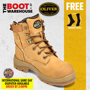 Oliver Work Boots, 55332z, Steel Toe Cap Safety, Side Zip, Scuff Cap. AU STOCK!!