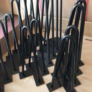Hairpin Legs Set of 4 Legs - 4 to 40 inch + FREE Screws, Floor Protectors