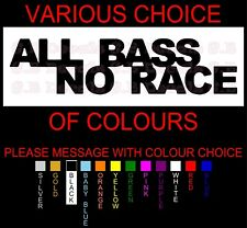 NO 62 ALL BASS NO RACE JDM STREET DRIFT DECAL FUNNY WINDOW STICKER CAR AUDIO