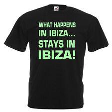 Ibiza Glow In The Dark Mens Adults T Shirt