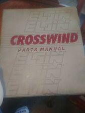 Elgin Crosswind Series J Recirculating Air Sweeper service & parts manual