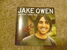 Jake Owen Signed CD Startin' With Me
