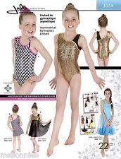 Jalie Asymmetrical Neck Tank Gymnastics Leotard Sewing Pattern 3354 Women Girls