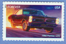 "1966 PONTIAC GTO MUSCLE CAR Forever Stamp UNUSED New Postage 2013 ""The Goat"" MNH"