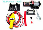 2000LB Power Cable Winch Kit truck trailer Boat with Remote Control 12 Volt