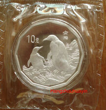 1997 China 2/3oz S10Y two penguins silver coin with coa
