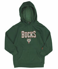 Adidas NBA Basketball Youth Boys Milwaukee Bucks Pullover Hoodie, Green