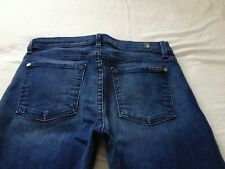 7 for all Mankind Women's High Rise The Modern Straight Blue Jeans Size 27 L32