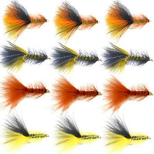 Bead Head Woolly Bugger Streamer Flies -12 Bass Trout Fly Fishing Flies - Size 4