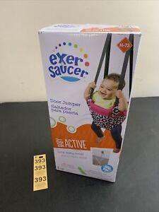 ExerSaucer Infant Doorway Jumper Secure Fit Fun Portable Door Baby Bouncer Swing