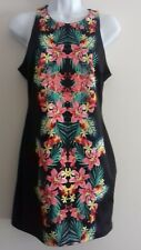 BNWT - WOMENS - BLACK FLORAL PATTERNED SLEEVELESS DRESS - SIZE 14