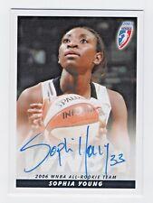 2007 Wnba Autograph Sophia Young San Antonio Silver Stars 2006 All Rookie