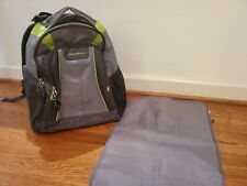 Eddie Bauer Backpack Diaper Bag - Gray and green