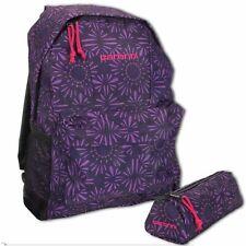 Carbrini 17L Purple Backpack & Pencil Case Set IT - Rucksack School Sports Bag