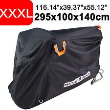 3XL Waterproof Motorcycle Cover Motorbike Cruiser Vented UV Rain Dust Protector