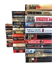 Lot of 34 ROBERT LUDLUM Books-Mixed Lot-BOURNE/Covert 1/