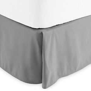 Bare Home Bed Skirt Double Brushed Premium Microfiber, 15-Inch Tailored Drop Ple