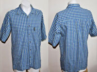 Sport Style Original Speedo Summer Shirt Fashion Blue Yellow Checked Size S/M