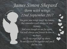 Personalised Slate Baby Memorial sign / plaque,newborn, infant, girl, boy