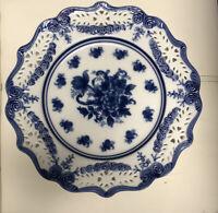 "I. GODINGER & CO  13.25""LOAF Platter BLUE And WHITE"