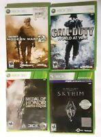 XBox 360, Call of Duty World at War & Modern Warfare 2,Medal of Honor Ltd.Ed,(4)