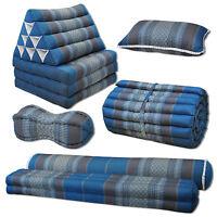 Kissen Matte blau grau groß Deko Boden Garten sitzen liegen Couch Thai Muster