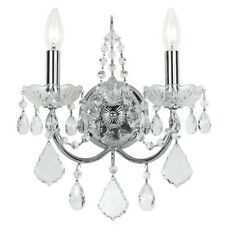 Crystorama Imperial 2 Light Clear Crystal Chrome Sconce - 3222-CH-CL-MWP