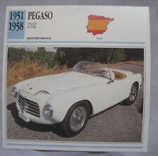 Pegaso Z102 Collectors Classic Car Card