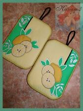 Embroidery designs Digital embroidery Pot Holders Application Gift Cotton lemon