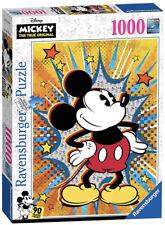 EUC Ravensburger Retro Mickey Mouse 1000 Piece Jigsaw Puzzle