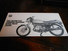 NOS NEW BMW 1982 Motorcycle Retail Price List Vintage Brochure