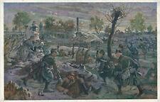 k.u.k. Militaria Austria kuk Künstlerkarte Russia Russland Grabenkampf