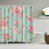 Waterproof Shower Curtain Polyester Bathroom Hanging Panel w/12 Hooks #13
