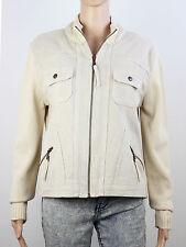 Next womens Size 14 beige cotton cord zip up jacket