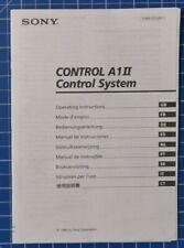 SONY Control A1II mehrsprachige Bedienungsanleitung 1999 B19904