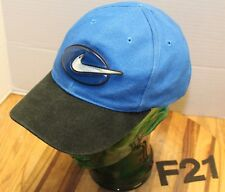 YOUTH NIKE 6 PANEL HAT BLUE/BLACK SNAPBACK ADJUSTABLE VERY GOOD CONDITION F21