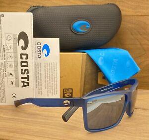 COSTA DEL MAR Rinconcito POLARIZED Sunglasses Matte Atlantic Blue/Silver 580P