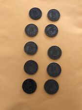 Lot of 10 Vintage Charter  Member PGA Tour Partner's Club Coins Bronze