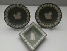 Jasperware Trinket Dish Green Wedgwood Porcelain & China