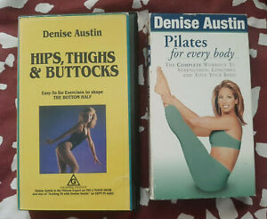 Denise Austin Pilates for Every Body + Hips, Thighs & Buttocks VHS Tapes