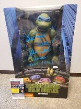 """NECA Teenage Mutant Ninja Turtles Leonardo 1/4 Scale 18"""" figure 1ST RUN Signed!"""