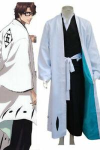 NEW!Bleach 5th Division Captain Aizen Sousuke Cosplay Costume Kimono Suit