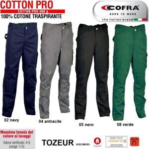 Pantaloni da lavoro COFRA modello TOZEUR 100% cotone 300 g/m² edilizia industria