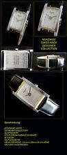 Rectangular Mondaine Swiss Made Unisex Wristwatch with Folding Clasp Designer