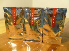 PRADA LUNA ROSSA  SPORT EAU DE TOILETTE,spray sample, you WILL  GET 3 samples