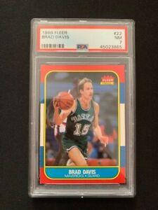 NBA FLEER 1986 Card   Brad Davis #22   PSA Graded 7 NM