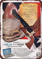 """1961 Colt Civil War Centennial Model Rustic Vintage Retro Metal Sign 8"""" x 12"""""""