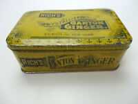 Rich's Crystallized Canton Ginger 1 Pound Tin Box Vintage E.C. RICH Inc New York