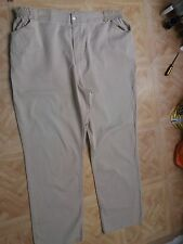 "beige denim trousers 50"" hips 38"" waist 42"" long approx"